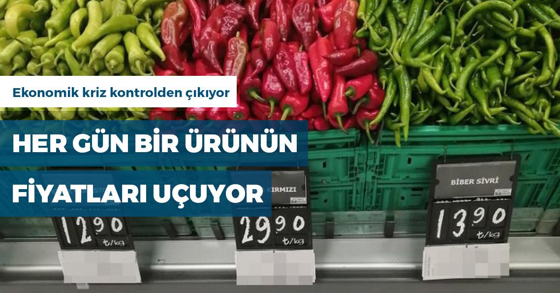 Kırmızı biberin fiyatı 30 TL'ye çıktı