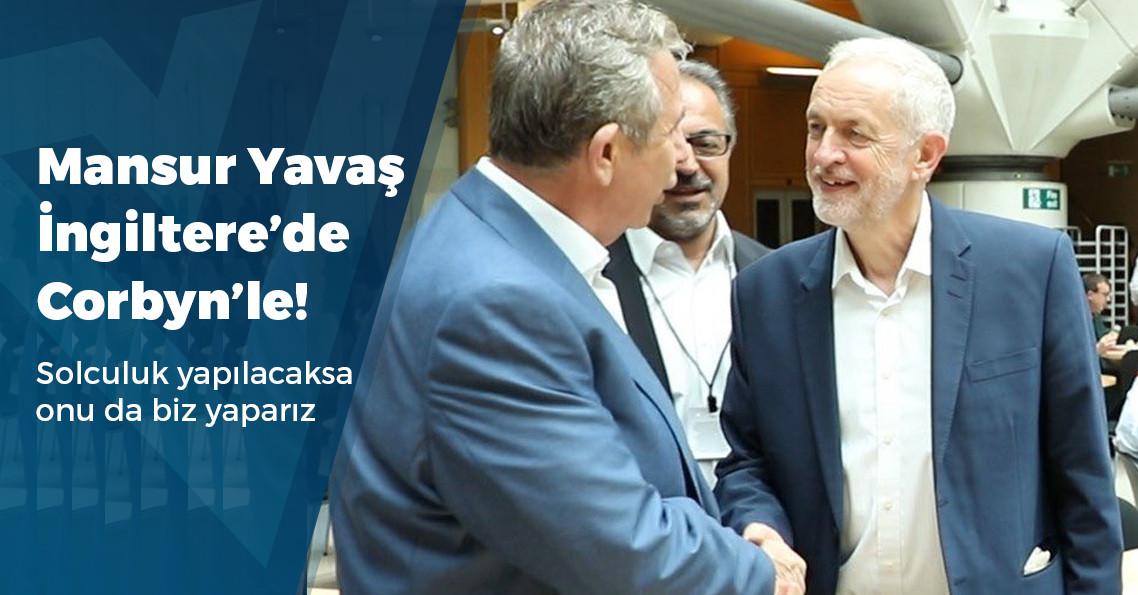 Mansur Yavaş Londra'da Jeremy Corbyn'le bir araya geldi