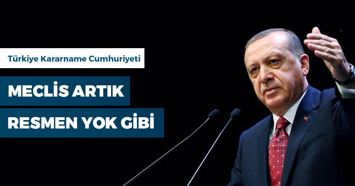 1 yılda Erdoğan 1880 maddelik düzenleme yaparken Meclis 503 maddede kaldı