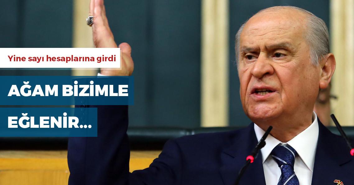 """Bahçeli: """"Kemal, Meral, Temel, hepsi beş harften oluşuyor"""""""