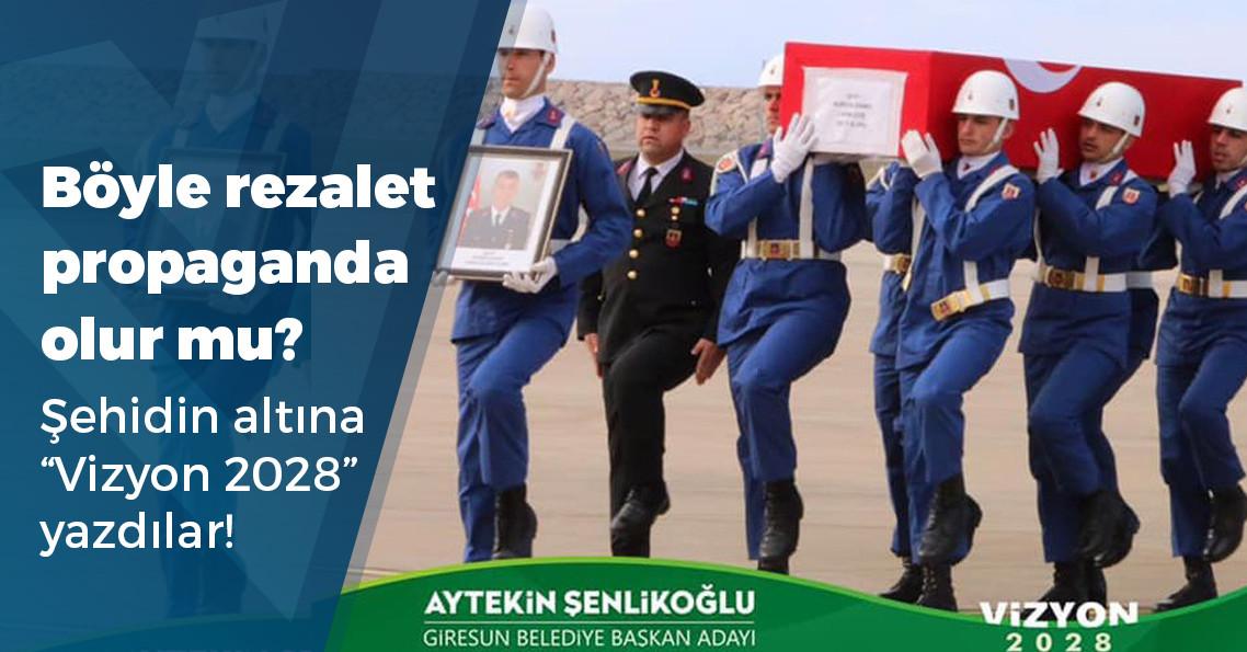 AKP'li aday, şehit cenazesini seçim propagandası yaptı!