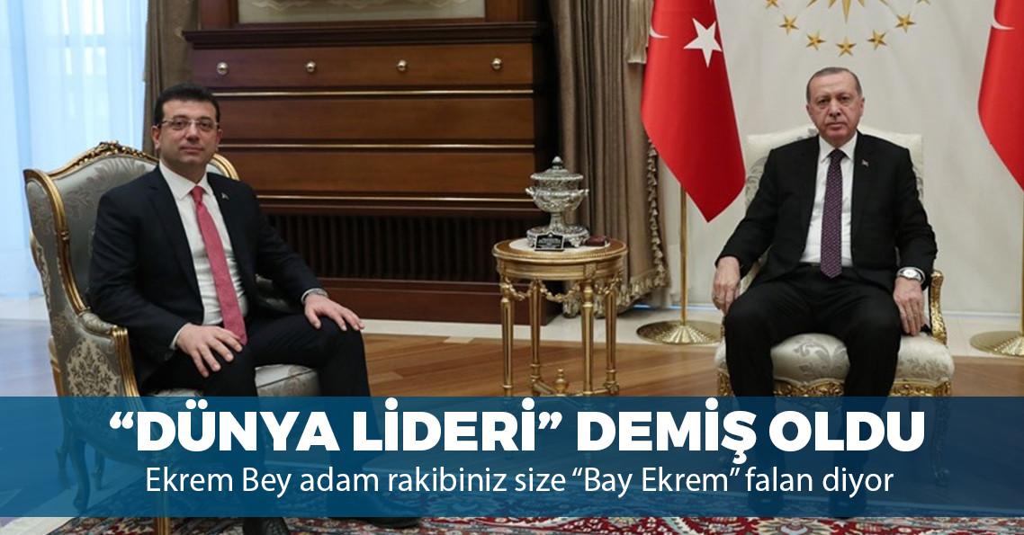 """Erdoğan'ın """"sen hangi dünya lideri tanıyorsun?"""" sorusuna İmamoğlu'ndan cevap: """"Kendisini tanıyorum"""""""