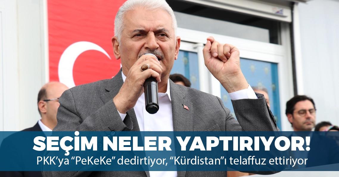"""Binali Yıldırım Diyarbakır'da PKK'yı """"PeKeKe"""" diye telaffuz etti, """"Kürdistan"""" ifadesini kullandı"""