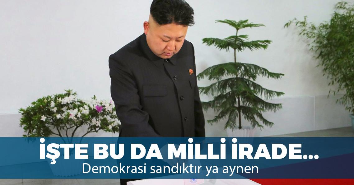 Kuzey Kore sandık başında