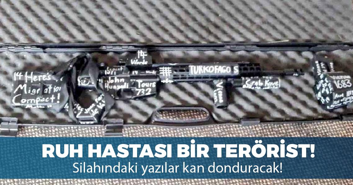 Yeni Zelanda'daki teröristin kullandığı silahta hangi yazılar yer aldı?