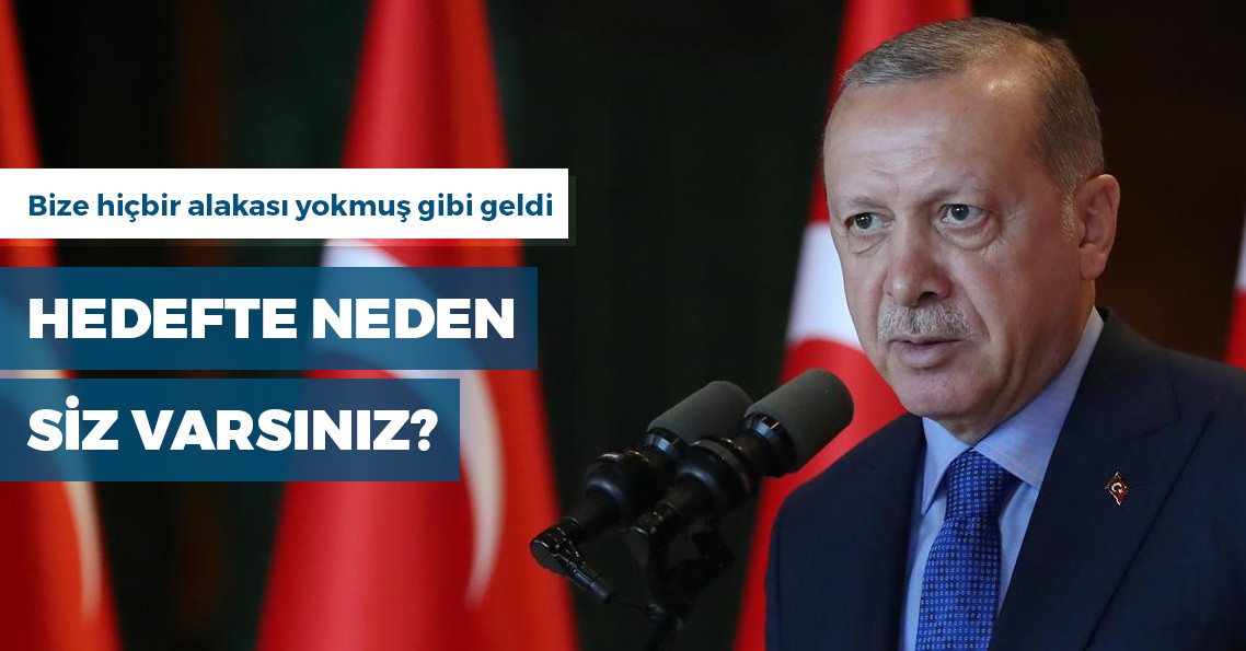 """Erdoğan:  """"Yeni Zelanda'da 40 Müslüman öldürülüyor, hedefte Türkiye ve bu kardeşiniz var"""""""