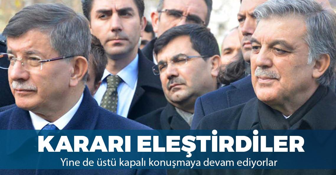 Davutoğlu ve Gül'den YSK'nın kararına tepki
