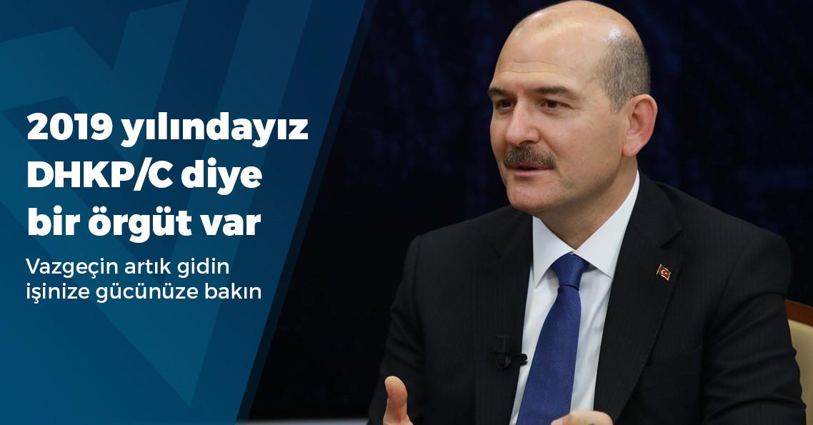 """Soylu: """"DHKP-C'nin Türkiye sorumlusu yakalandı"""""""