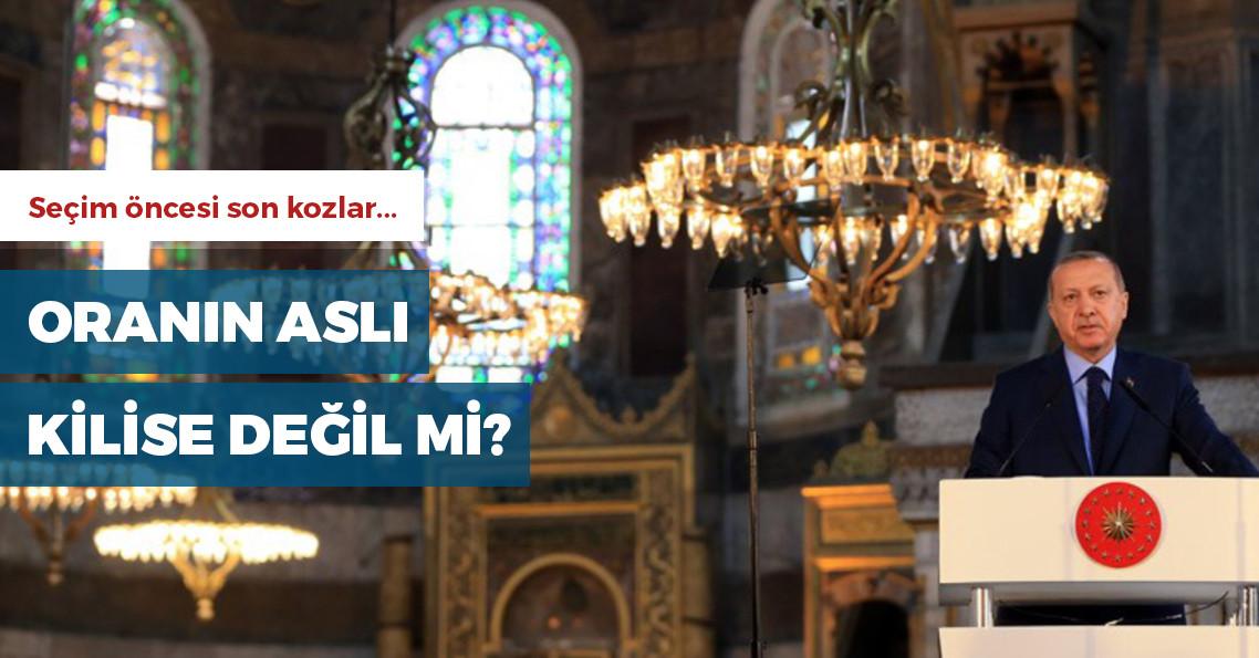 """Erdoğan: """"Seçimlerden sonra Ayasofya'yı tekrar aslına rücu ettiririz"""""""