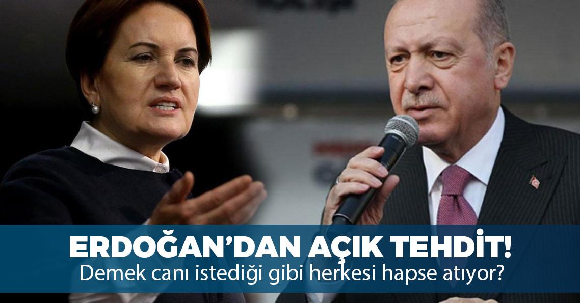 """Erdoğan'dan Akşener'e: """"Birileri cezaevinde süre dolduruyor sen de düşebilirsin"""""""