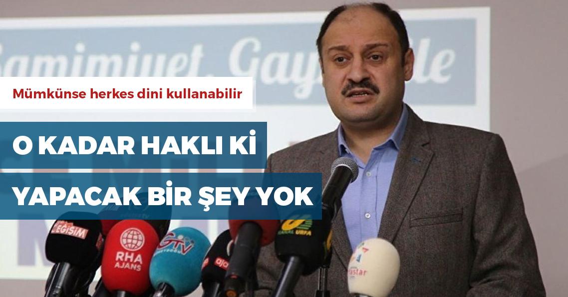 """AKP'li Gülpınar: """"Neden kullanmayayım ki arkadaşlar? Sen de kullan, din benim tekelimde olan bir şey değil ki"""""""