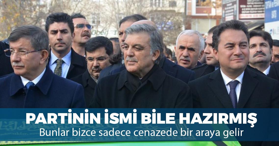 AKP'deki küskünlerin kuracağı yeni partinin ismi hazır mı?
