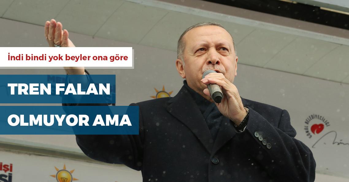 """Erdoğan: """"Bu trenden inenler, bir daha bu trene binemezler"""""""