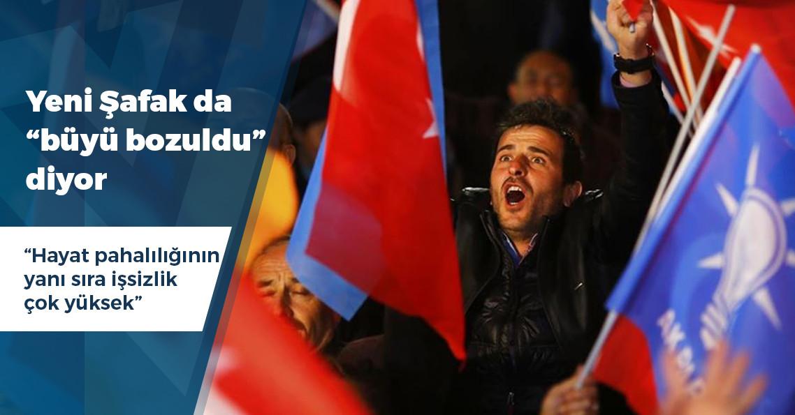 """Yeni Şafak yazarı: """"AK Parti için 'büyü bozuldu' ifadesini kullanmanın tam vaktidir"""""""