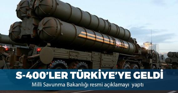 S-400 sisteminin Türkiye'ye intikali başladı