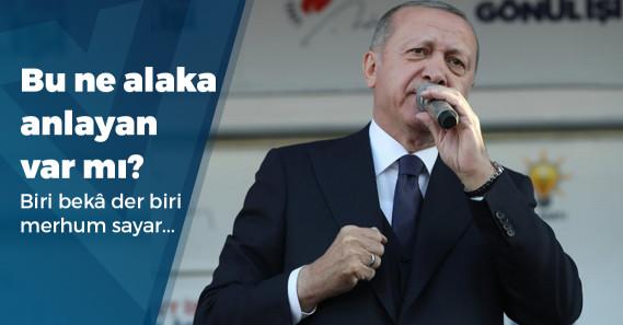"""Erdoğan: """"Sandıklara merhum Yazıcıoğlu, Özal, Türkeş gibi devlet adamları için gideceğiz"""""""