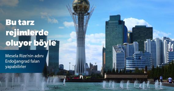 Kazakistan'da başkent Astana'nın ismi Nursultan olarak değiştirildi