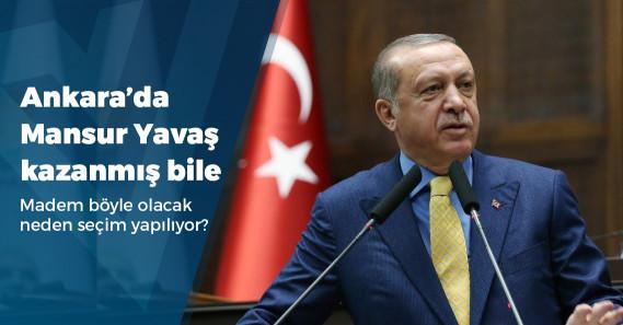 """Erdoğan: """"Mansur Yavaş, seçimlere girebilse dahi, seçimden sonra bedelini kendisi ödeyeceği gibi Ankaralılara da ödetme durumuna düşürür"""""""