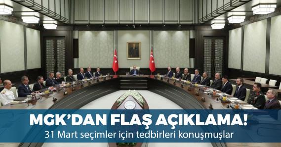 Milli Güvenlik Kurulu'ndan 31 Mart açıklaması