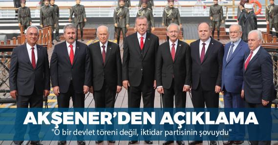 """Meral Akşener: """"O bir devlet töreni değil, iktidar partisinin şovuydu"""""""