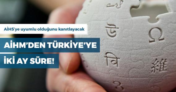 AİHM'den Türkiye'ye Vikipedi için 2 ay süre