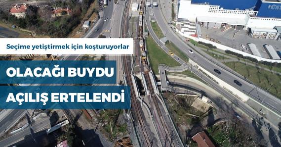 Halkalı-Gebze Marmaray hattının açılış tarihi ertelendi