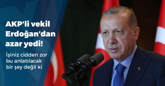 """""""Erdoğan'dan AKP'li vekile: Ooo işimiz zor, daha sana anlatamamışız ki..."""""""