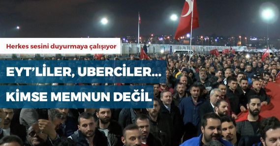 UBER şoförleri Yenikapı'da eylem yaptı
