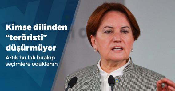 """Akşener: """"Cumhur İttifakı'na oy veren kardeşlerim benim için terörist değil"""""""
