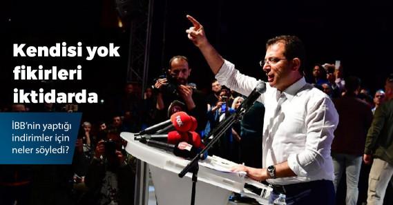 """Ekrem İmamoğlu: """"Her hanenin cebine 200 lira koymuş durumdayız"""""""