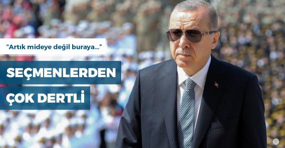 """""""Erdoğan, 'Karnını doyuruyorsunuz, her türlü ihtiyacını karşılıyorsunuz yine de oy vermiyor' dedi"""""""