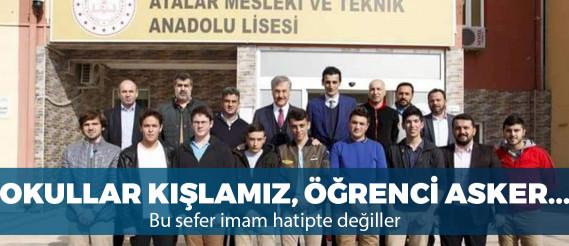 AKP'li belediye başkan adayı okulda siyasi çalışma yaptı
