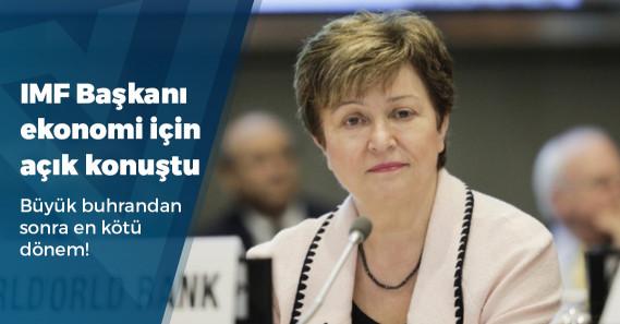 """IMF Başkanı Georgieva: """"Büyük Buhran'dan bu yana en kötü ekonomik daralmayı bekliyoruz"""""""