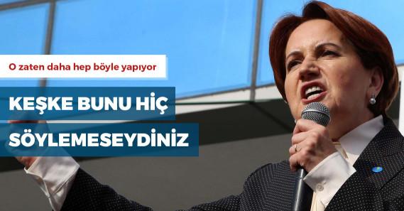"""Meral Akşener'den Erdoğan'a: """"Canın ne istiyorsa onu yap"""""""
