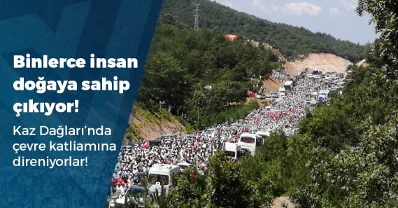 """Binlerce insan Kaz Dağları'nda """"Vicdan ve Su Nöbeti"""" için bir araya geldi"""