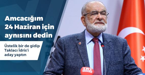 """Karamollaoğlu: """"İktidardan Saadet Partisi'ne oy kayacak"""""""