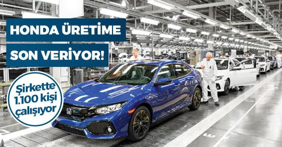 Honda Türkiye'deki üretime resmen son veriyor