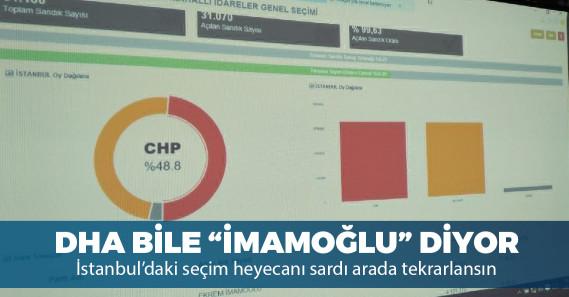 """Demirören Haber Ajansı: """"YSK'nın verilerine göre İmamoğlu önde gidiyor"""""""
