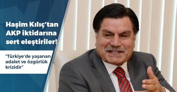"""Eski Anayasa Mahkemesi Başkanı Kılıç: """"Adalet krizinin doğal sonucu ekonomik krizdir"""""""