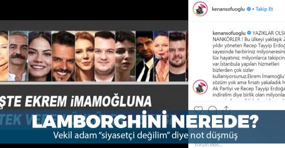 """AKP'li Sofuoğlu'ndan sanatçılara: """"Erdoğan sayesinde milyonersiniz"""""""