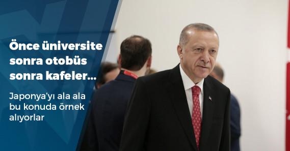 """Erdoğan: """"Japonya'daki 800 üniversitenin yüzde 10'u kadın üniversitesi, Türkiye de benzer bir adımı atmalı"""""""