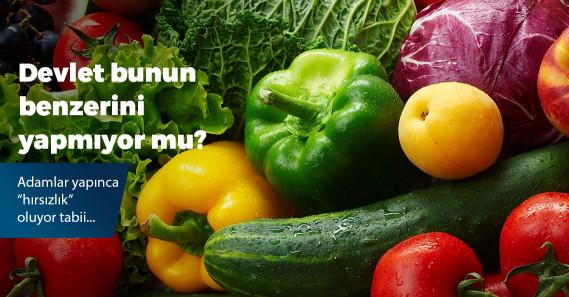 Çaldıkları meyve ve sebzeleri pazarda satan 3 şüpheli yakalandı