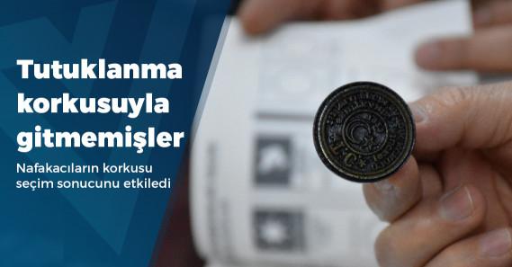 """""""Sandığa nafaka darbesi: 100 bin kişi tutuklanma korkusuyla oy kullanamadı"""""""
