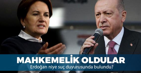 Erdoğan'dan Meral Akşener hakkında suç duyurusu