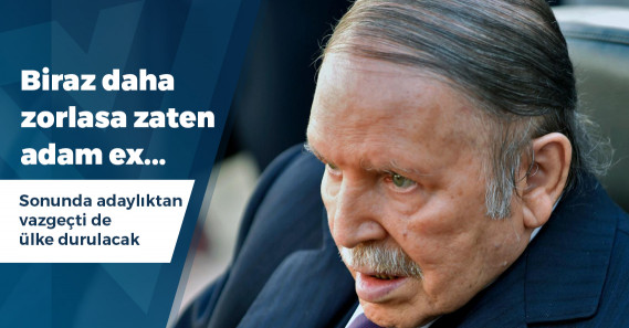 Cezayir Cumhurbaşkanı Buteflika adaylıktan çekildi