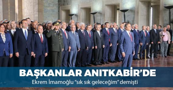CHP'li belediye başkanlarından Anıtkabir'e ziyaret