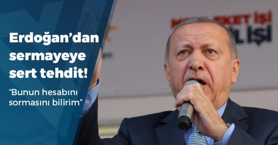 """Erdoğan'dan TÜSİAD'a: """"İçeriden vuranlara bunun hesabını sormasını da bilirim"""""""