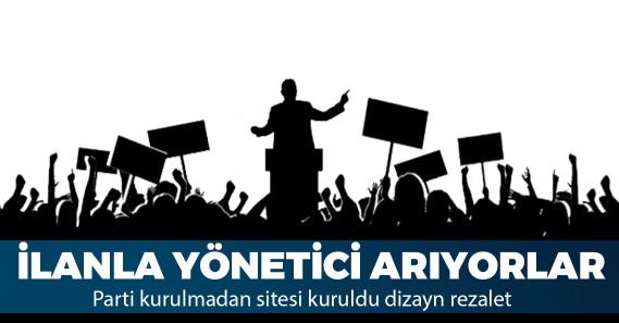"""Yeni parti için internet sitesi açtılar: """"yenibirparti.org"""""""