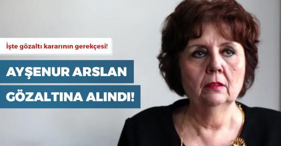 Gözaltına alınan gazeteci Ayşenur Arslan serbest bırakıldı