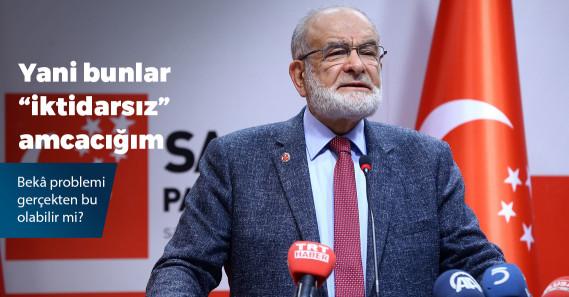"""Temel Karamollaoğlu: """"Ülkeyi yönetemeyenlerin beka problemi var"""""""